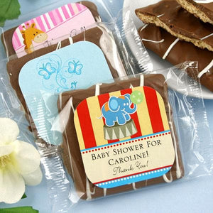 Personalized Exclusive Baby Chocolate Graham Crackers (Many Designs Available)