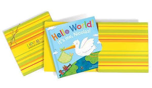Hello World! Personalized Board Book - Blue