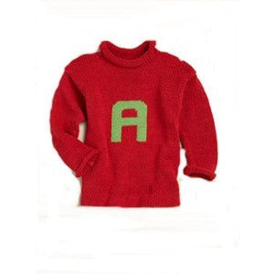 Personalized Solid Knitted Letter Sweater (Many Colors Available)