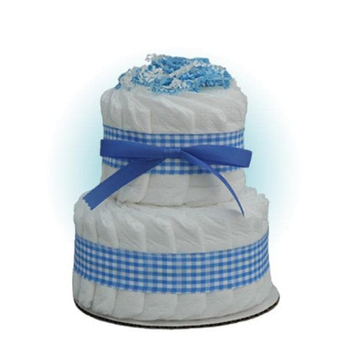Mini Blue 2-Tier Diaper Cake