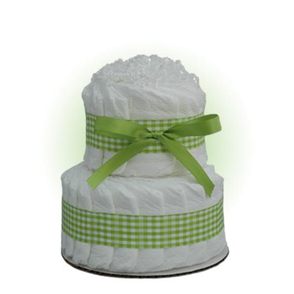 Mini Green 2-Tier Diaper Cake
