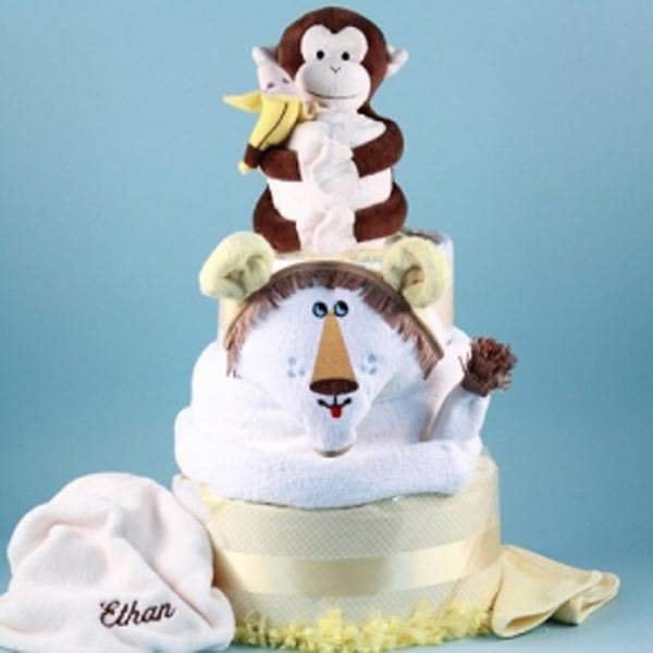 Personalized Deluxe Lion King Diaper Cake Baby Gift