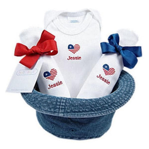 A Bucket Full of Baby Stuff 4-Piece Gift Set - Little Patriot (Personalization Available)