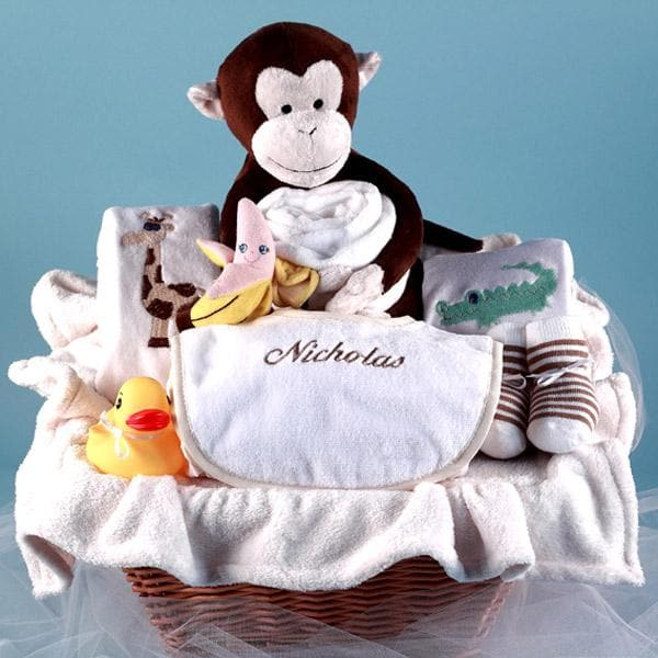 Monkey & Pals Personalized Gift Basket