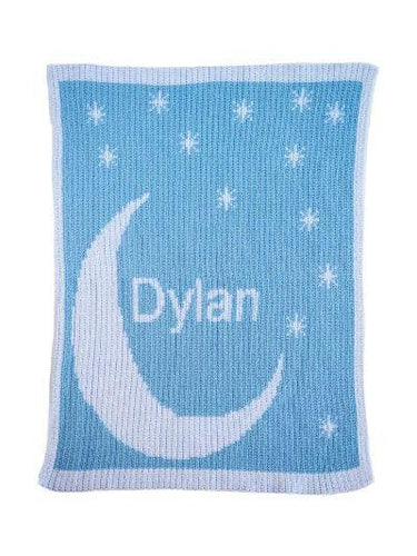 Personalized Moon & Stars Stroller Blanket (Many Colors Available)