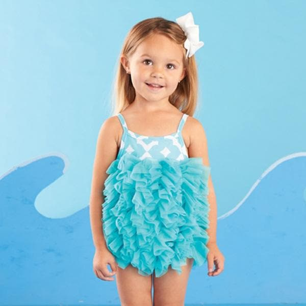 Under the Sea Blue Swimsuit For Baby (0-6 Months)