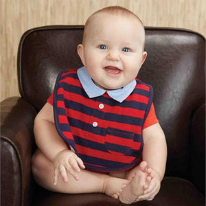 Striped Polo Bib