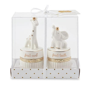 Giraffe and Elephant Tooth & Curl Set