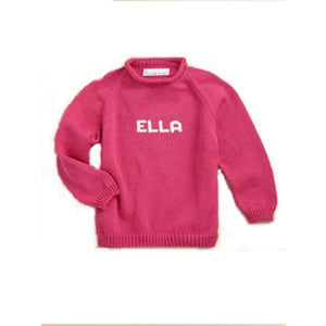 Personalized Knitted Name Sweater (Many Colors Available)