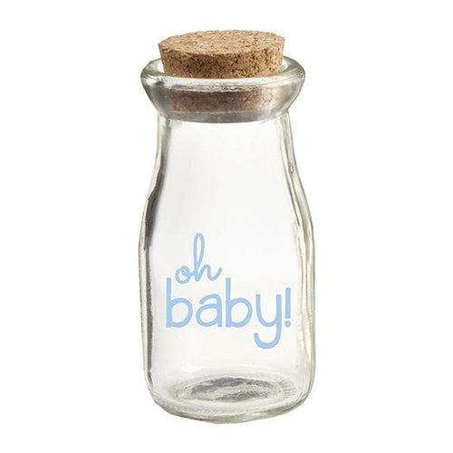 Oh Baby Boy Vintage Milk Bottle Favor Jar (Set of 12)