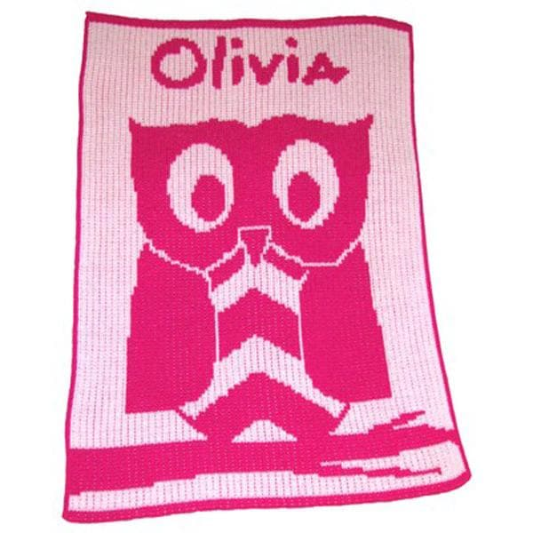 Personalized Owl Stroller Blanket