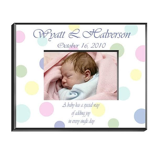Personalized Polka Dot Frame