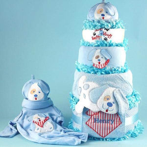 Personalized Puppy Love Diaper Cake