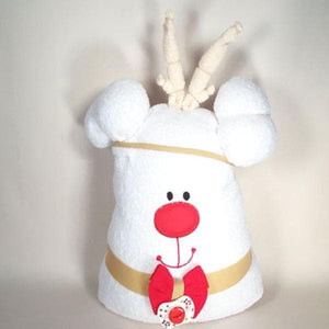 Reindeer Hooded Towel Set