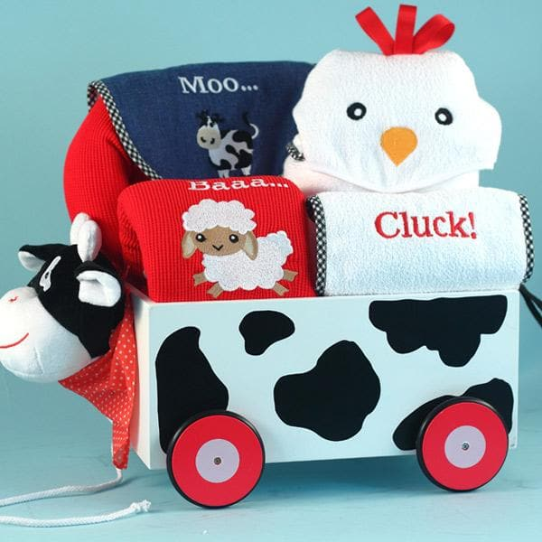 Barnyard Welcome Wagon Baby Gift Set