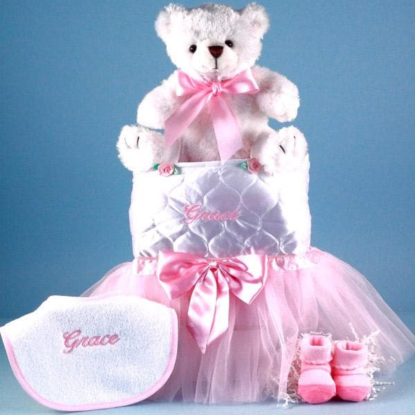 Personalized Tote-Tutu-Teddy Baby Gift