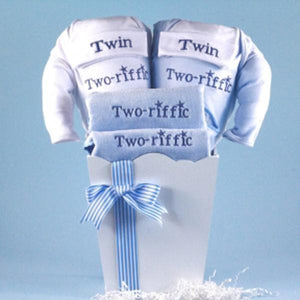 "Twin Boys Baby Gift-""Two-riffic"""