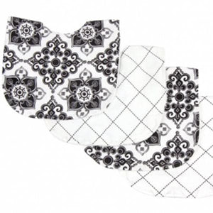 Versailles Black & White Mealtime 9-Piece Gift Set