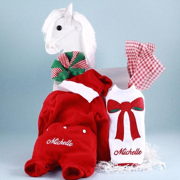 Personalized Christmas Baby Gift in Rocking Horse Gift Box