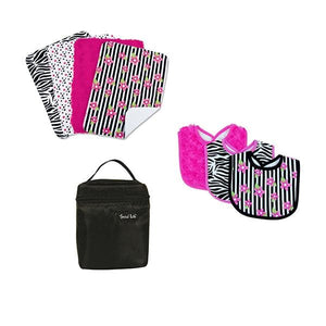 Zahara Black and Hot Pink Meal Time 8 Piece Gift Set