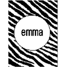 Load image into Gallery viewer, Personalized Stroller Blanket with Zebra Stripe