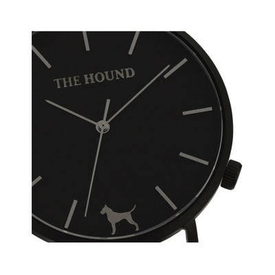 Matte black and black watch face designed by THE HOUND.