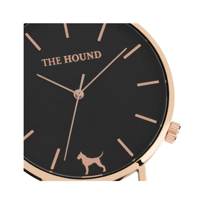 Rose gold and black watch face designed by THE HOUND.