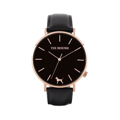 Black Rose Watch<br>+ Black Leather Band<br>+ Blush Pink Leather Band