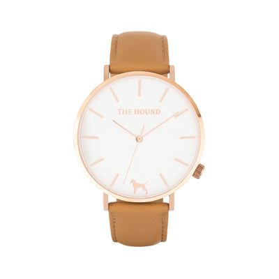 White Rose Watch<br>+ Tan Leather Band<br>+ Camel Leather Band