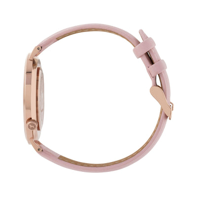 White Rose Watch<br>+ Blush Pink Leather Band<br>+ Tan Leather Band