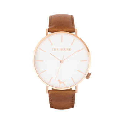 White Rose Watch<br>+ Tan Leather Band<br>+ Blush Pink Leather Band