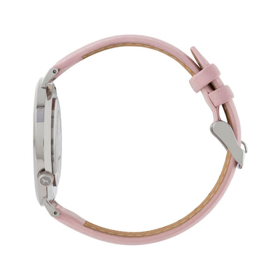 Silver & White Watch<br>+ Blush Pink Leather Band<br>+ Black Nato Band