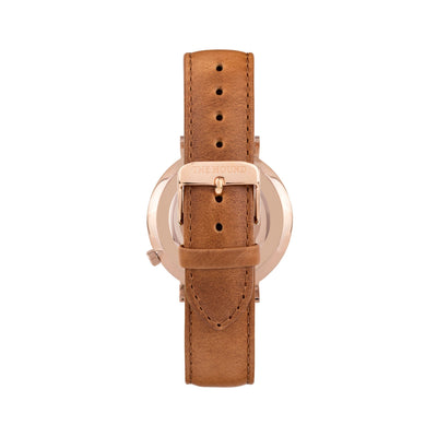 White Rose Watch<br>+ Tan Leather Band<br>+ Tan Leather Band