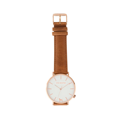 White Rose Watch<br>+ Tan Leather Band<br>+ Black Leather Band