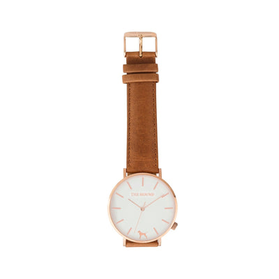 Rose Gold & White,Leather,Tan