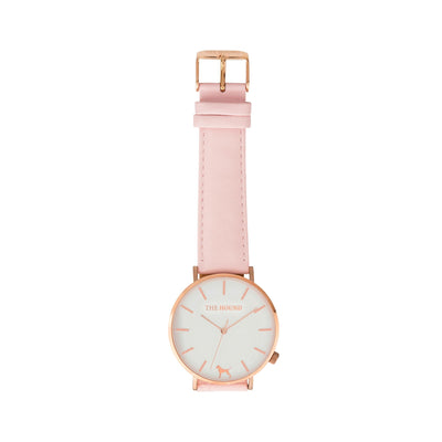 White Rose Watch<br>+ Blush Pink Leather Band<br>+ Camel Leather Band