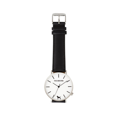 Silver & White Watch<br>+ Black Leather Band<br>+ Blush Pink Leather Band