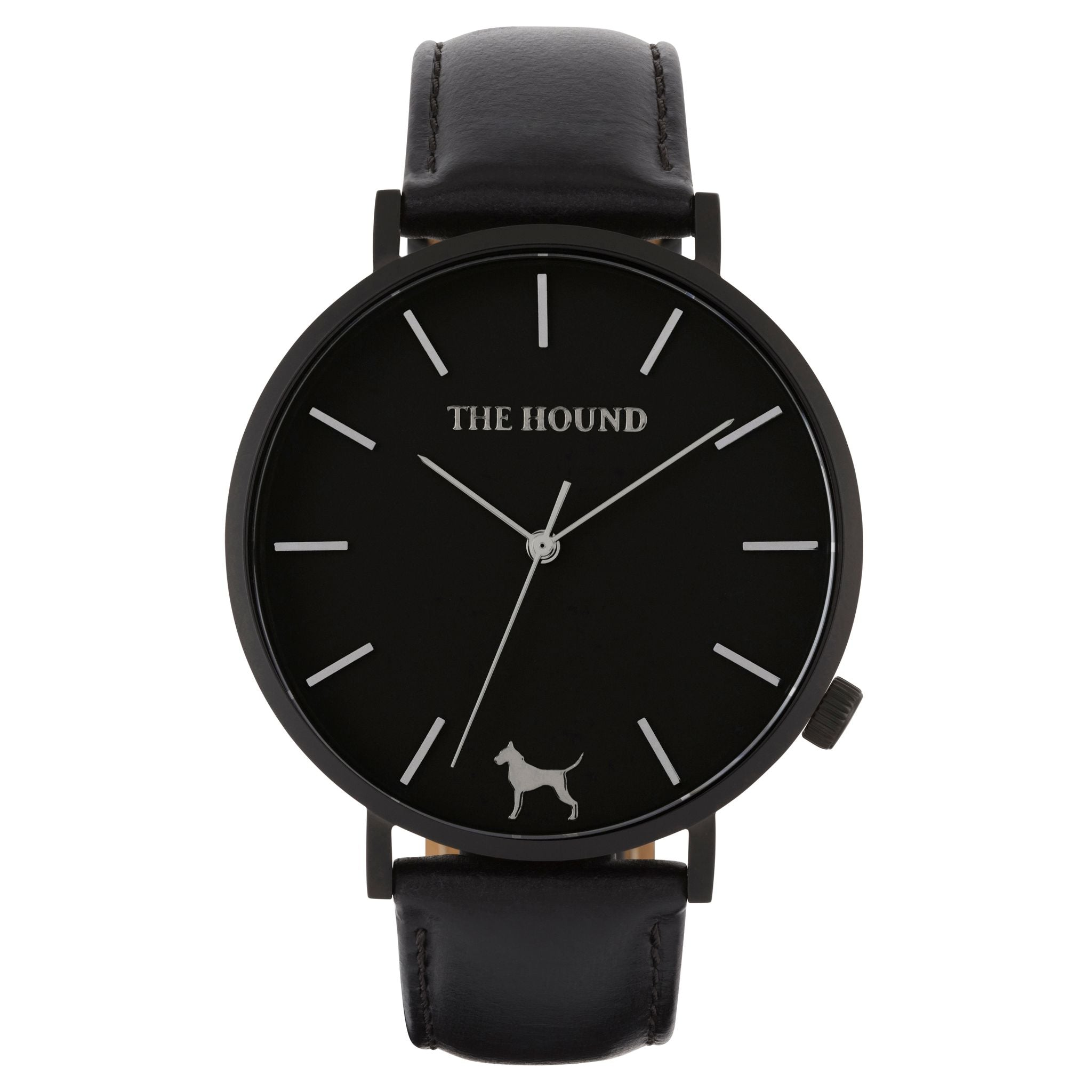 Extra Watch - Matte Black & Black Leather