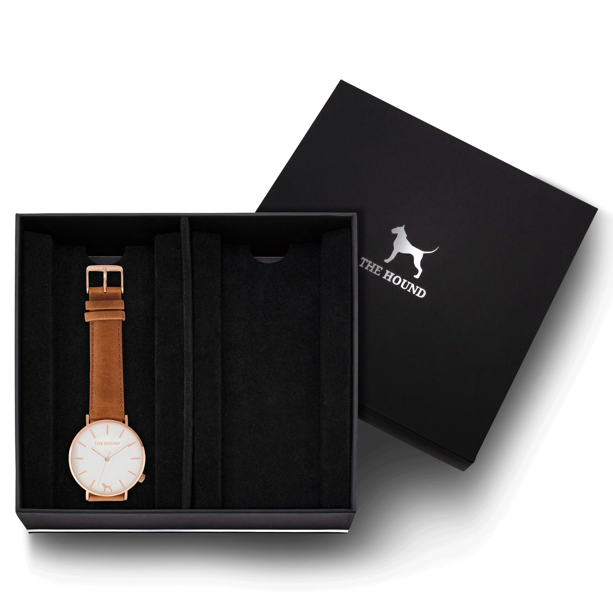 Gift Set - White Rose Watch with Tan Leather Band