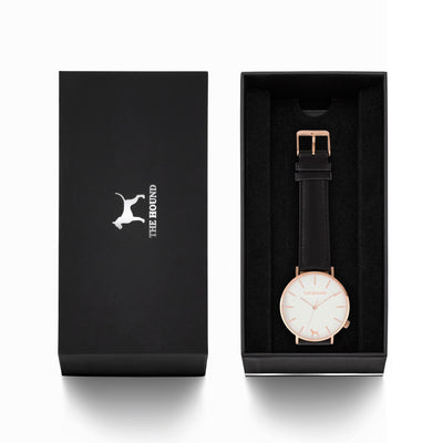 Rose Gold & White,Leather,Black