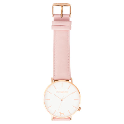 Extra Watch - White Rose & Blush Pink Leather