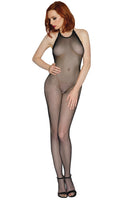 Halter Crotchless Fishnet Bodystocking