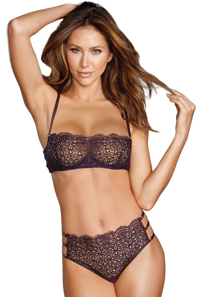 Venise embroidery bra and G-string set