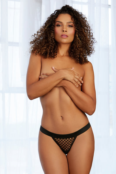 Fishnet G-String with Wide Elastic Waistband