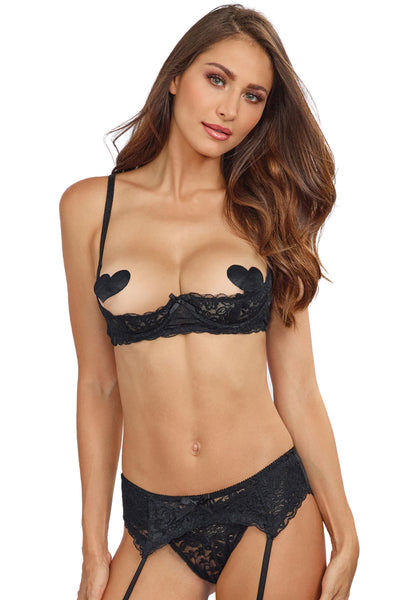 Stretch Lace Open Cup Bra