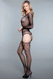 Fishnet Criss-Cross Bodystocking