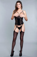 Cupless Shredded Bodystocking
