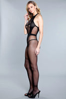 Sheer Crotchless Bodystocking