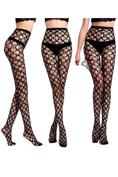 Open Design Lace Pantyhose (3 Pack)