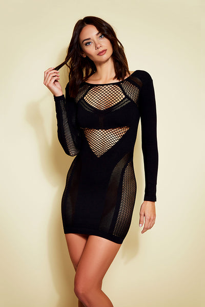 Multi Texture Seamless Bodycon Dress
